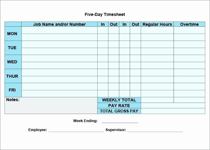 Excel Timesheet for Multiple Employees Elegant Free Weekly Timesheet Template Word with Breaks Time