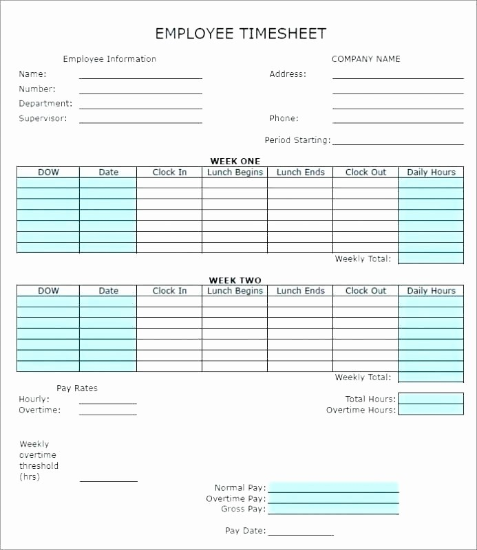 Excel Timesheet for Multiple Employees Unique Free Excel Monthly Timesheet Template Multiple Employees