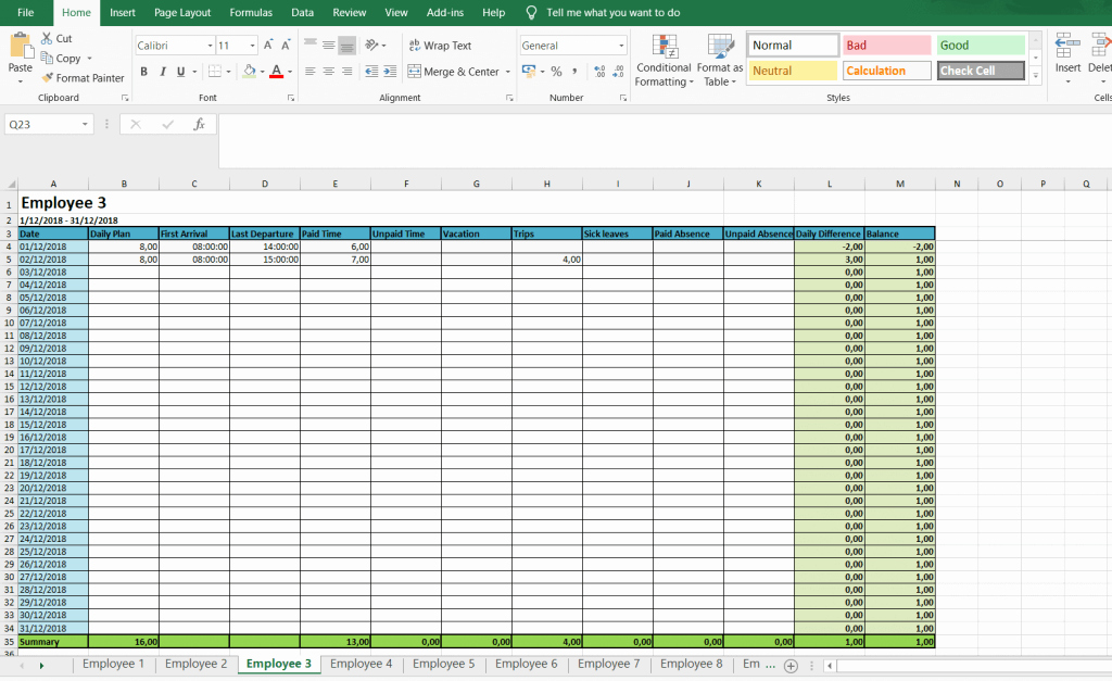 Excel Timesheet Template Multiple Employees Beautiful Monthly and Weekly Timesheets Free Excel Timesheet