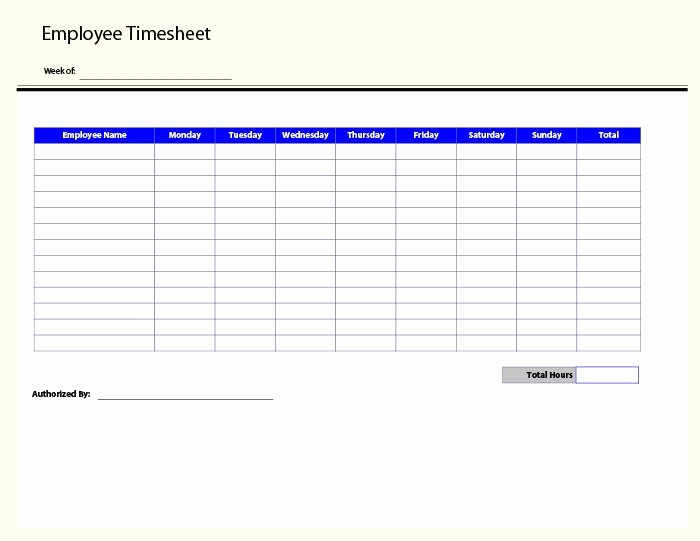 Excel Timesheet Template Multiple Employees Elegant 60 Sample Timesheet Templates Pdf Doc Excel