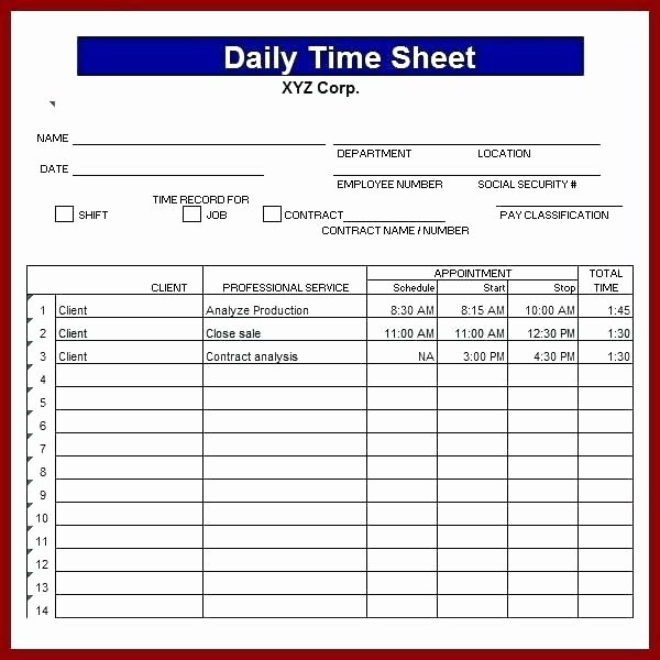Excel Timesheet Template Multiple Employees Fresh Sample Excel Multiple Employee Timesheet Template