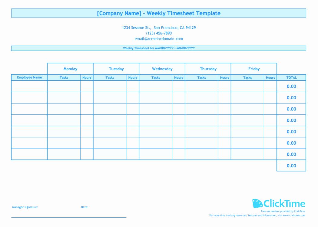 weekly timesheet template multiple employees