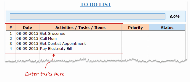 Excel to Do List Template Elegant Excel to Do List Template [free Download]