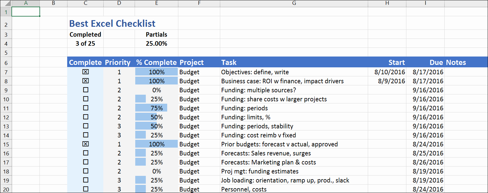 Excel to Do List Template Elegant the Best Excel Checklist
