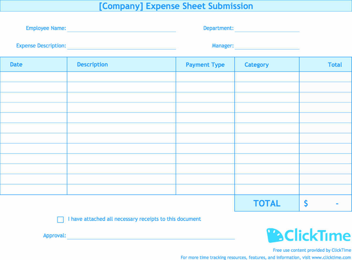 Excel Travel Expense Report Template Awesome Expense Report Template