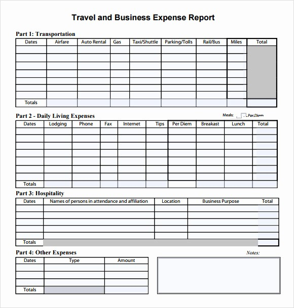 Excel Travel Expense Report Template Best Of 9 Expense Report Templates – Free Samples Examples