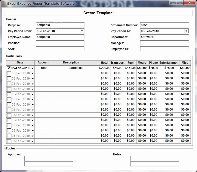 Excel Travel Expense Report Template Fresh Expense Report Template Excel