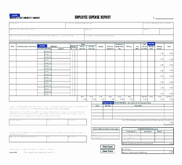 Excel Travel Expense Report Template Inspirational Employee Expenses Claim form Template Uk Free Google