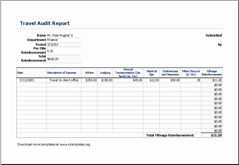 Excel Travel Expense Report Template Luxury Travel Expense Report Template