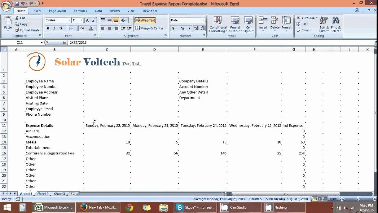 Excel Travel Expense Report Template Unique Travel Expense Report Template In Excel