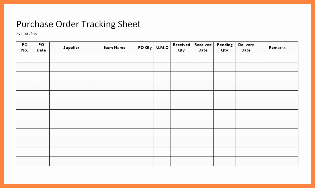 Excel Work order Tracking Spreadsheet Best Of Purchase order Excel Template – Seohelpub