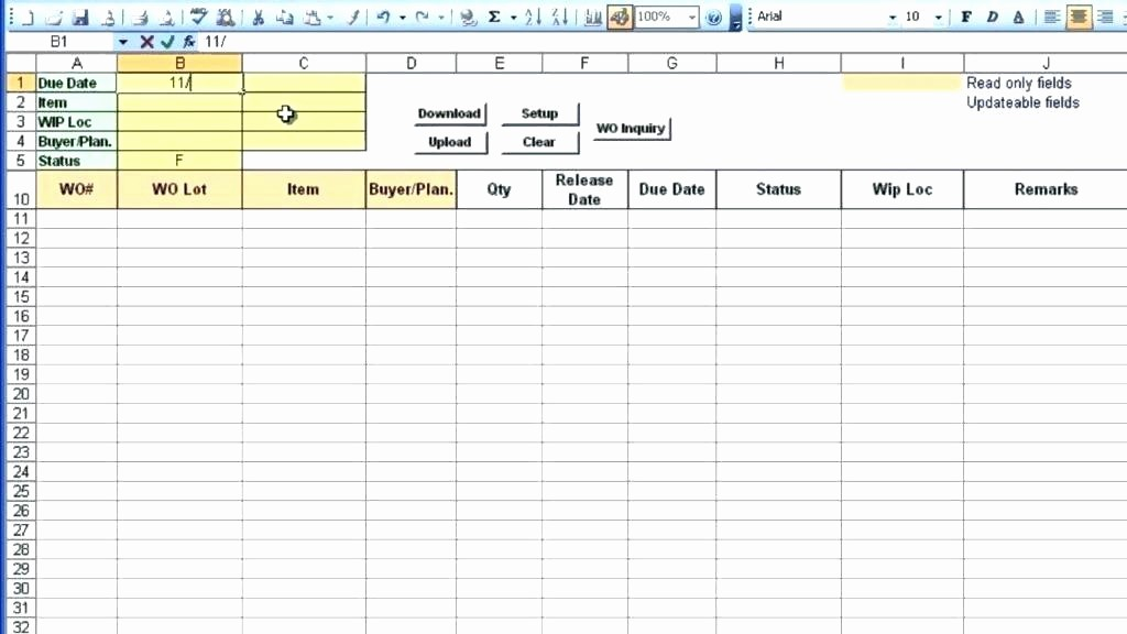Excel Work order Tracking Spreadsheet Elegant order Tracking Spreadsheet Template Excel Inventory