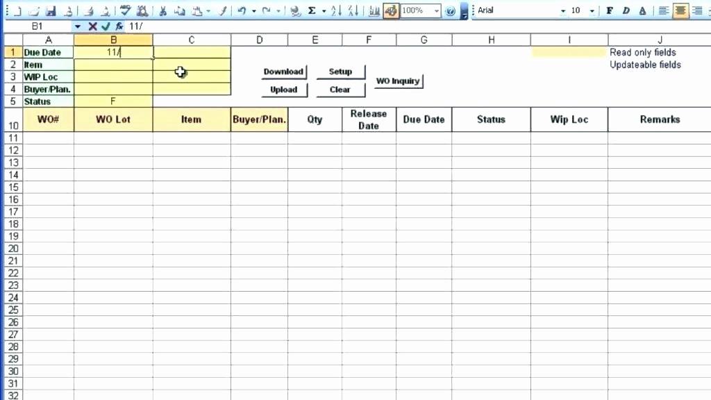 Excel Work order Tracking Spreadsheet Elegant order Tracking Spreadsheet Template Excel Inventory