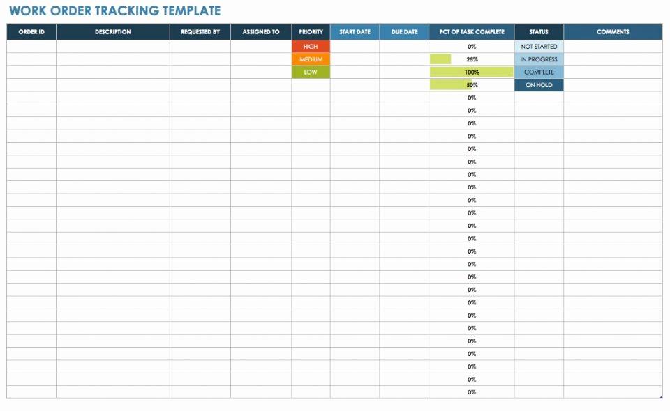 Excel Work order Tracking Spreadsheet Inspirational 15 Free Work order Templates