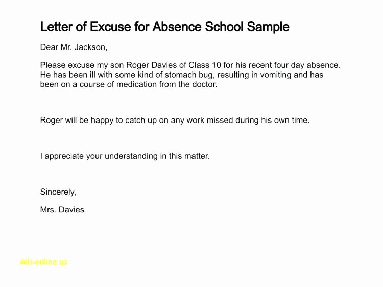 Excuse Absence Letter for School New Printable Doctor Excuse Note for Work Medical School Post