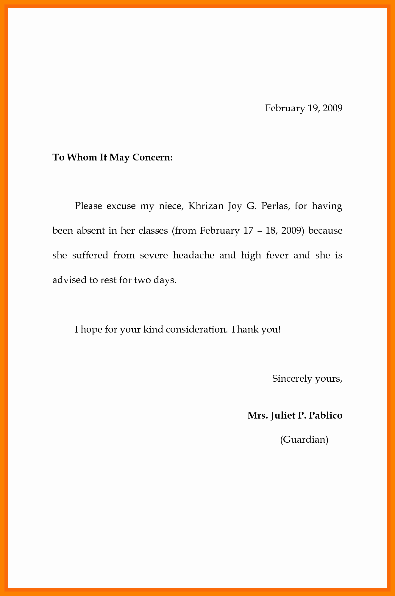 Excused Absence Letter for School Best Of School Absence Excuse Note