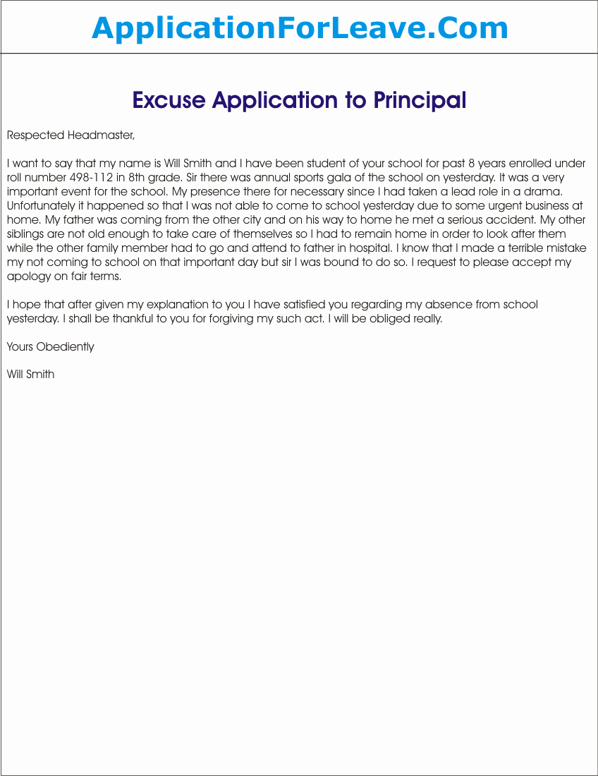 Excused Absence Letter for School Luxury Student Leaves Archives Semi Fice