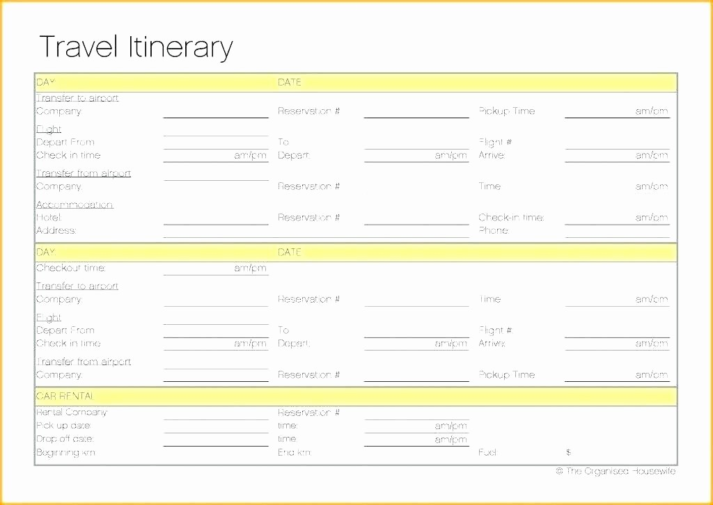 Executive assistant Travel Itinerary Template Unique Executive assistant Travel Itinerary Template Free Travel