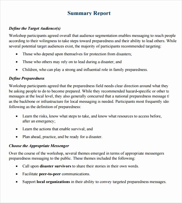 Executive Summary Financial Report Template Awesome top 4 Resources to Get Free Summary Report Templates