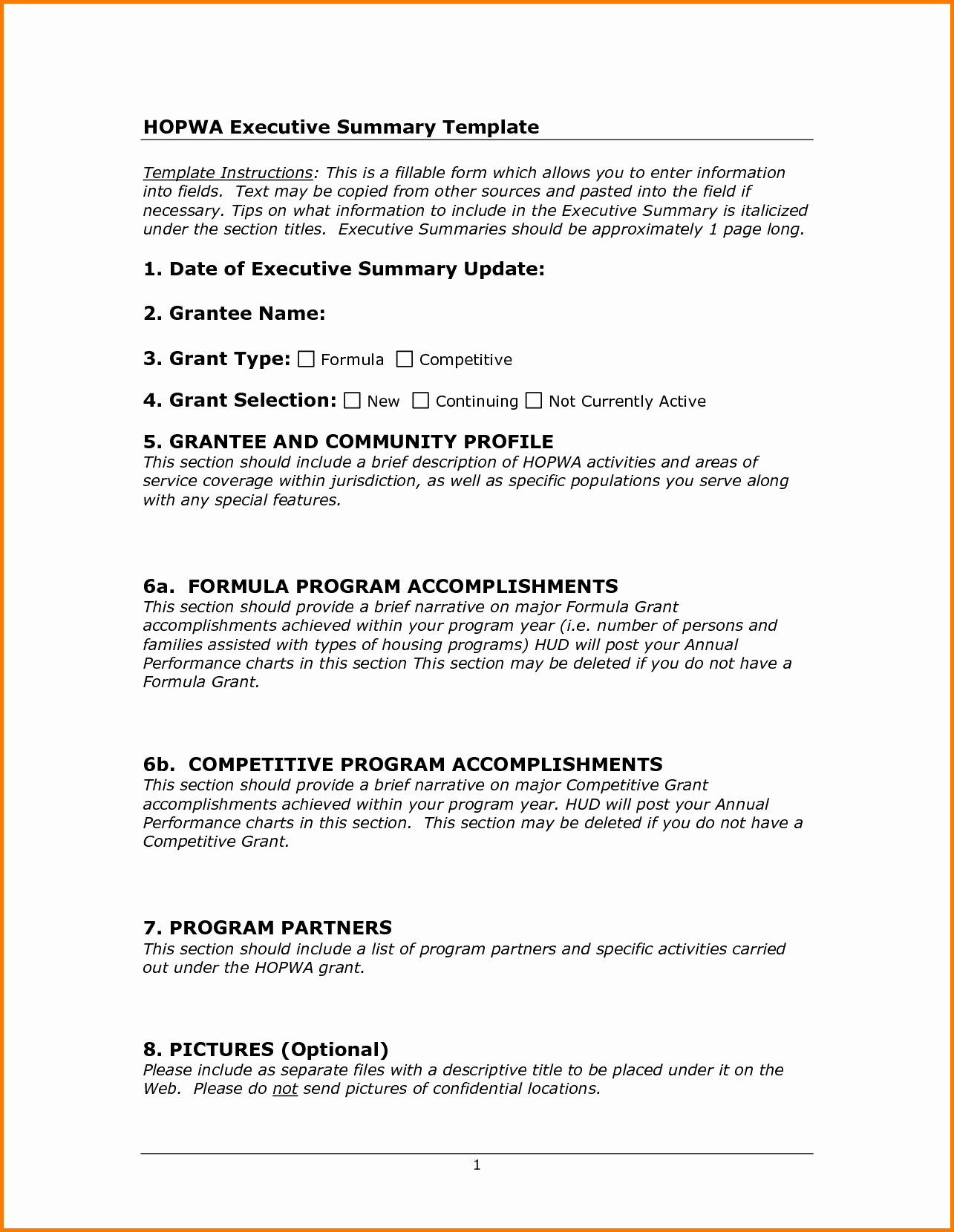 Executive Summary Financial Report Template Best Of 10 Executive Summary Template Doc