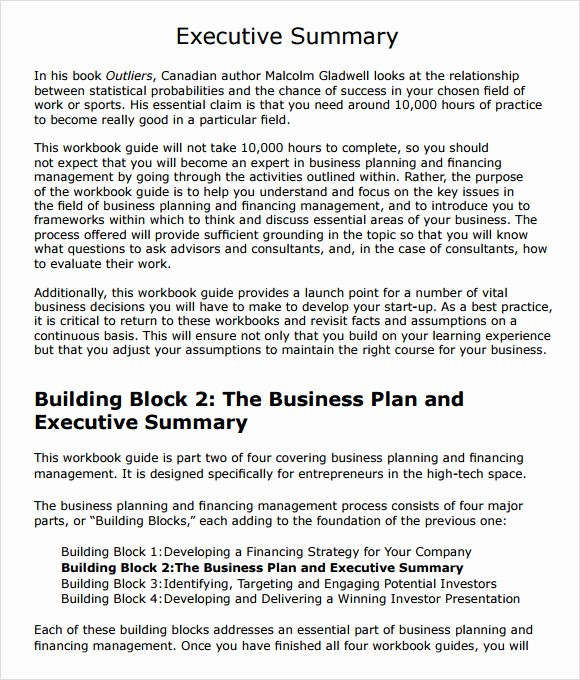 Executive Summary Financial Report Template Best Of 9 Executive Summary Templates for Free Download