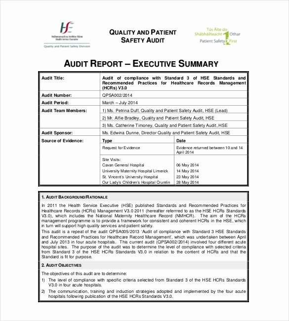 Executive Summary Financial Report Template Fresh Summary Report Templates 9 Free Sample Example format