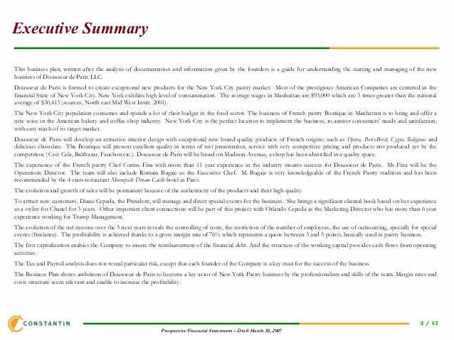 Executive Summary Financial Report Template Fresh Template Financial Plan New Business