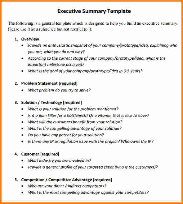 Executive Summary Financial Report Template Inspirational 8 Executive Summary Template Free