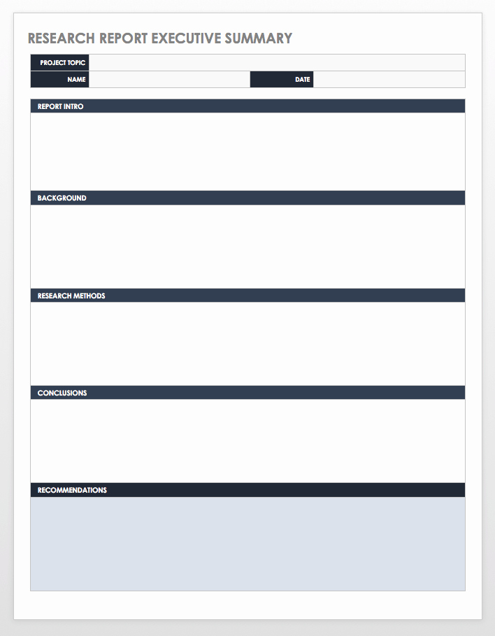 Executive Summary Financial Report Template Lovely Free Executive Summary Templates