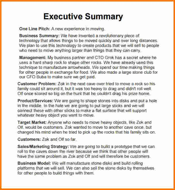 Executive Summary Financial Report Template Unique 10 Executive Summary Template Doc