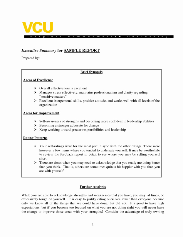 Executive Summary Of A Report Awesome Sample Executive Summary A Report Template Business