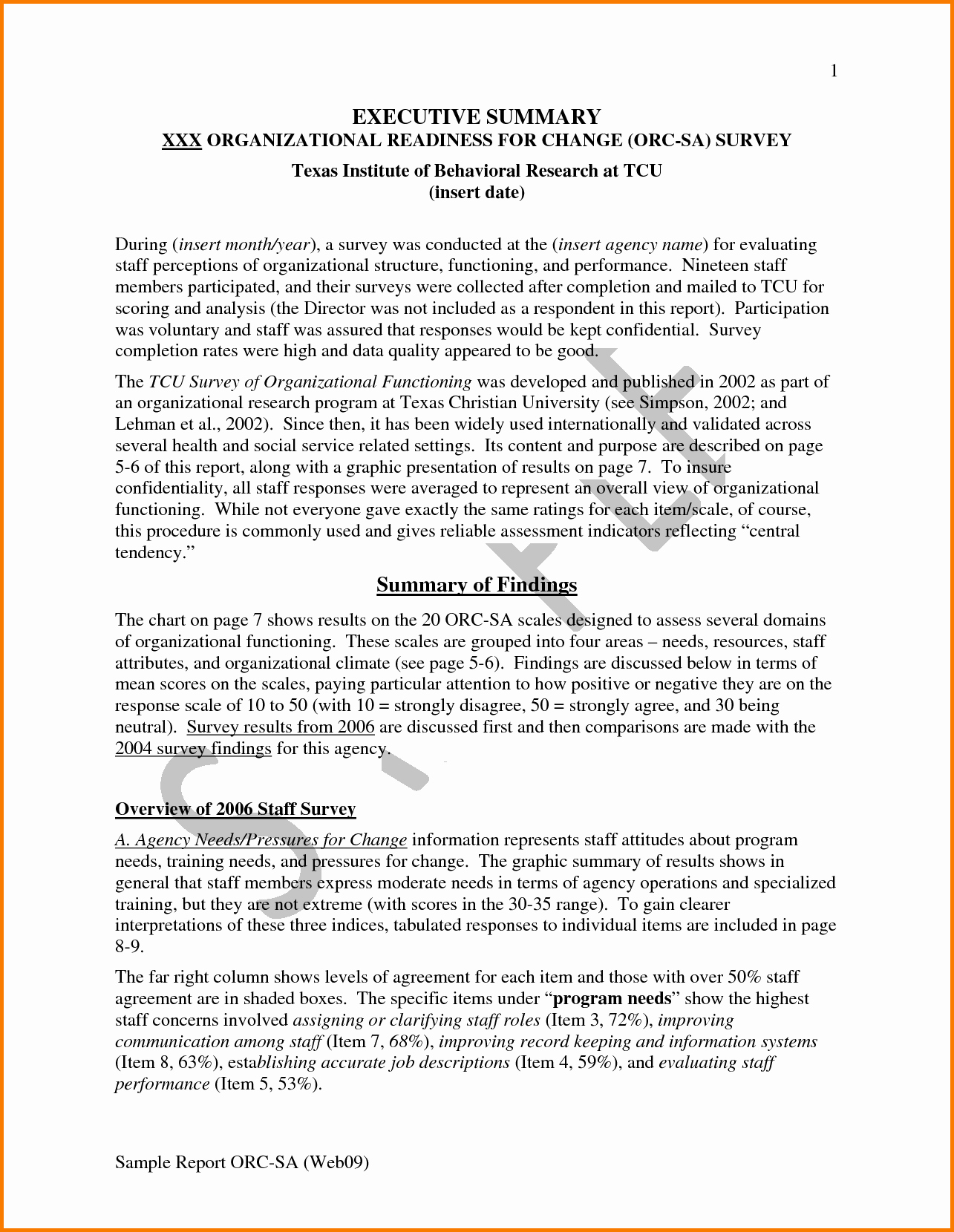 Executive Summary Of A Report Best Of 6 Executive Summary Report Sample