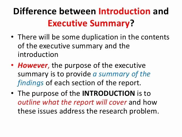 Executive Summary Of A Report Elegant Report Writing