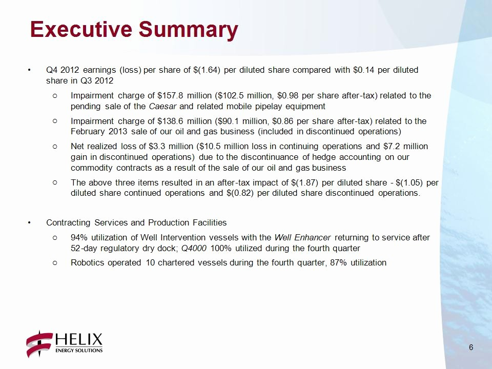 Executive Summary Of A Report Fresh Executive Summary