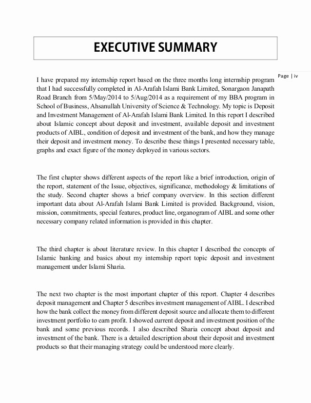 Executive Summary Of A Report Fresh Writing An Executive Summary for A Report An Executive