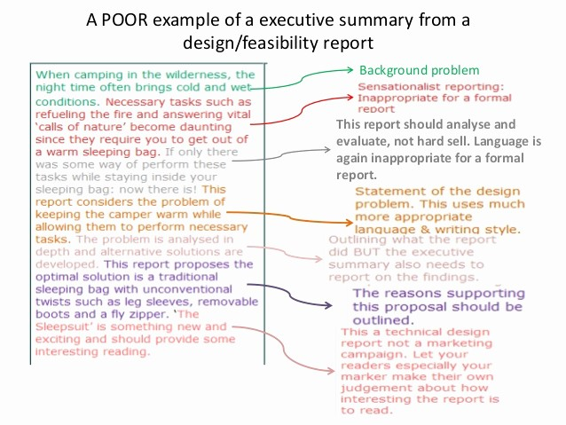 Executive Summary Of A Report Unique Report Writing