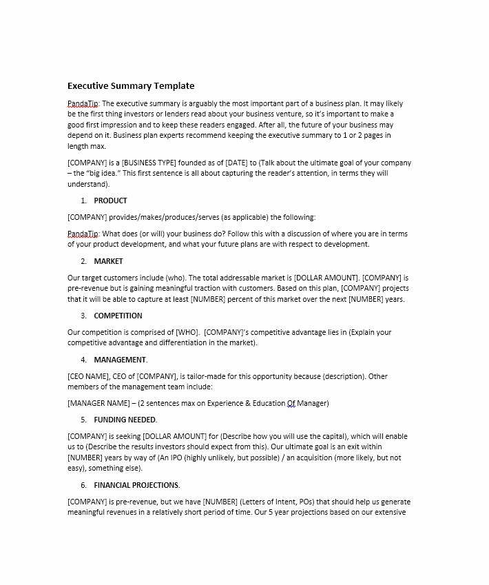 Executive Summary Report Example Template Best Of 30 Perfect Executive Summary Examples & Templates