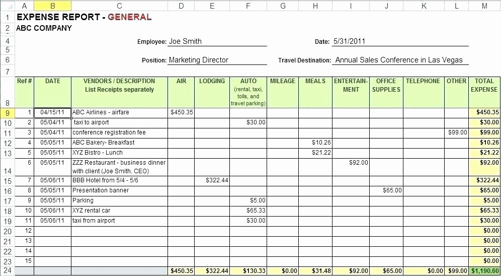 Expense Report Template Excel 2010 Best Of Free Google Business Templates Monthly Expense Report