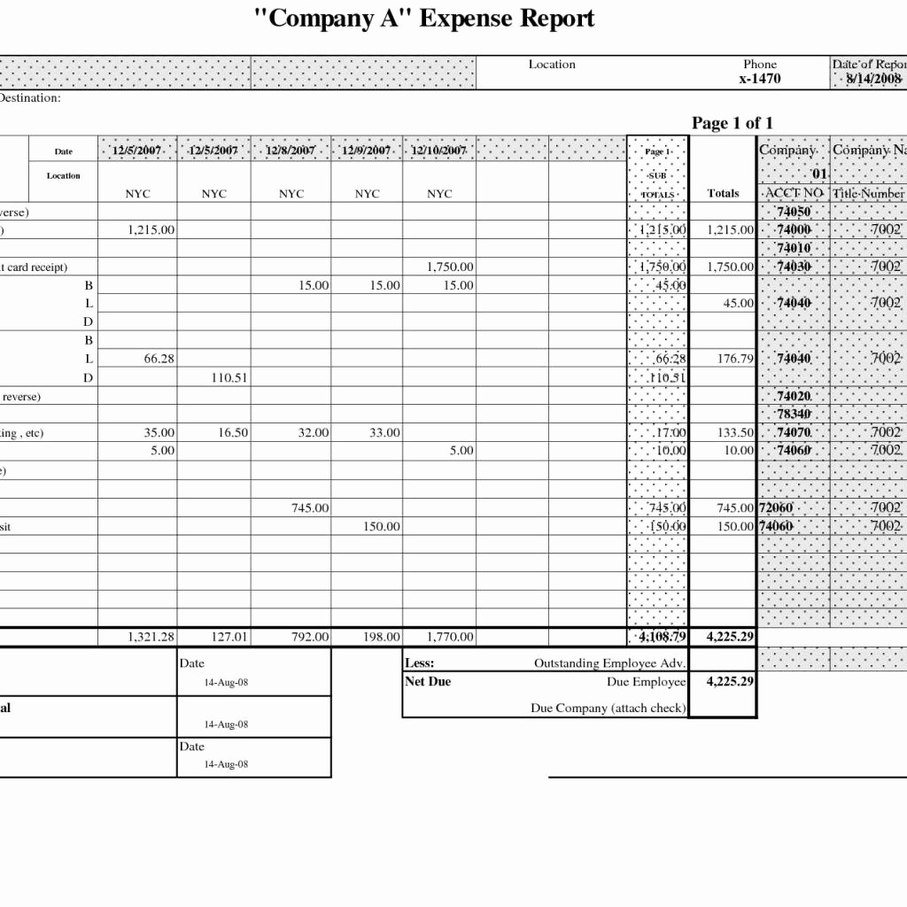 Expense Report Template Excel 2010 Elegant Excel Expense Report Template Free Download