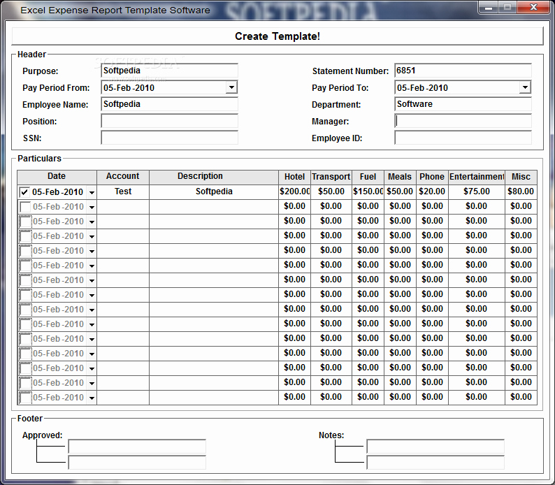 Expense Report Template Excel 2010 Inspirational Excel Expense Report Template software Download