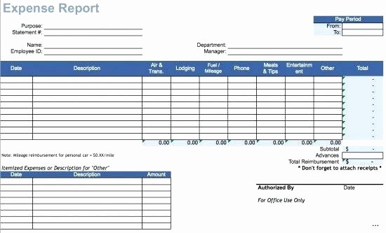Expense Report Template Excel 2010 Luxury Travel Expense form Excel Expenses Excel Template Watch