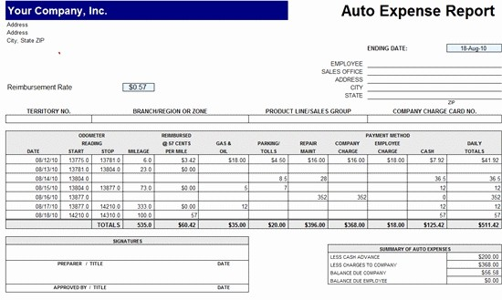 Expense Report Template Excel Free Fresh Excel Expense Report Template Free Download