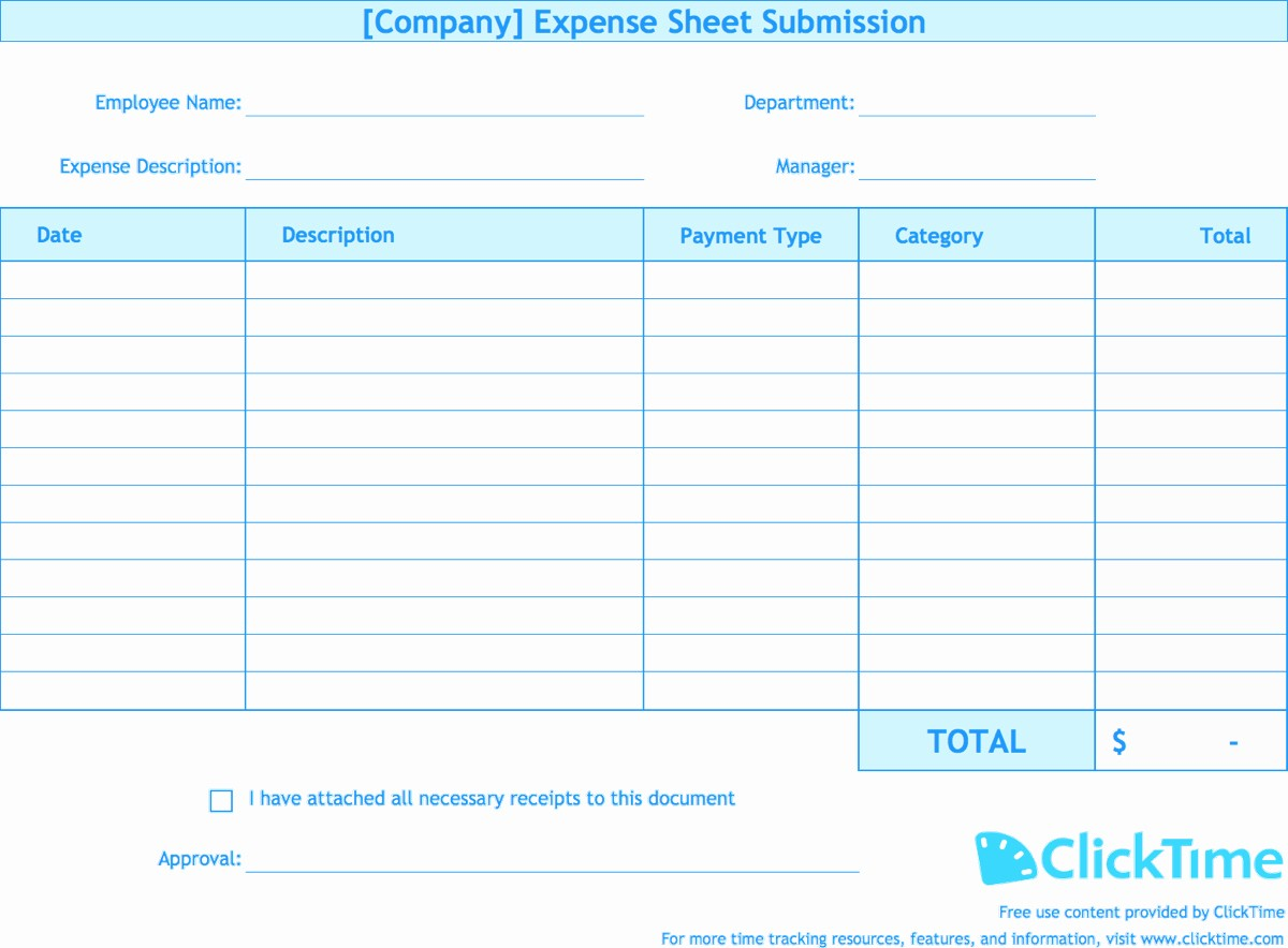 Expense Report Template Excel Free New Detailed Expense Report Template Expense Spreadshee