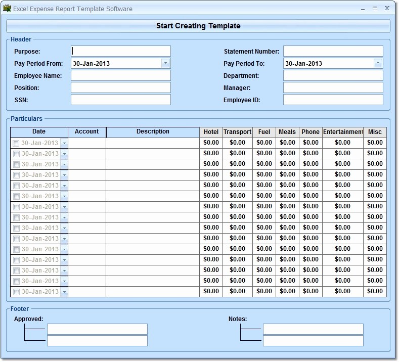 Expense Report Template for Numbers Elegant Excel Expense Report Template software