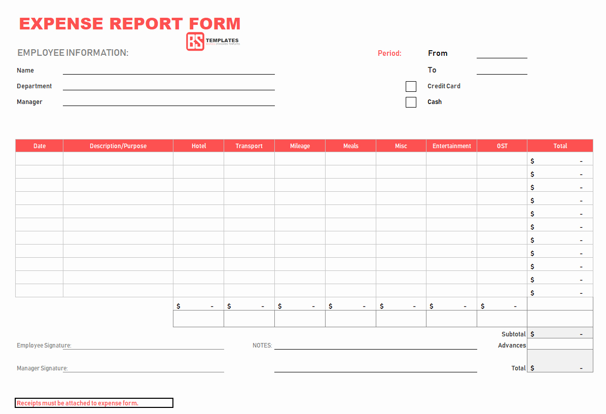 Expenses Sheet In Excel format Best Of 10 Expense Report Template Monthly Weekly Printable