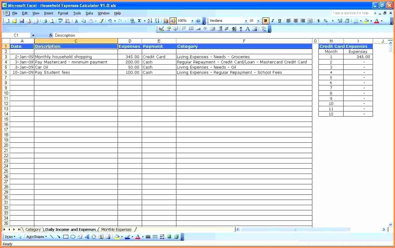 Expenses Sheet In Excel format Best Of Template Monthly Expense Spreadsheet Template