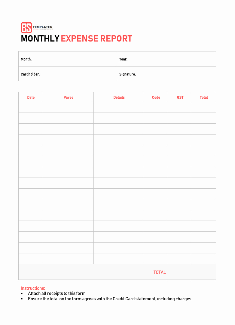 Expenses Sheet In Excel format Elegant 10 Expense Report Template Monthly Weekly Printable