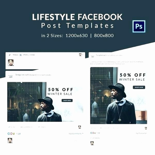 Facebook Post Template for Word Beautiful Status Template Shop Amazing Post
