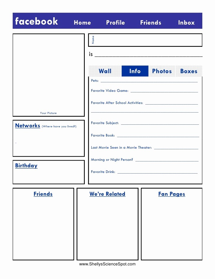 Facebook Post Template for Word Elegant Blank Template