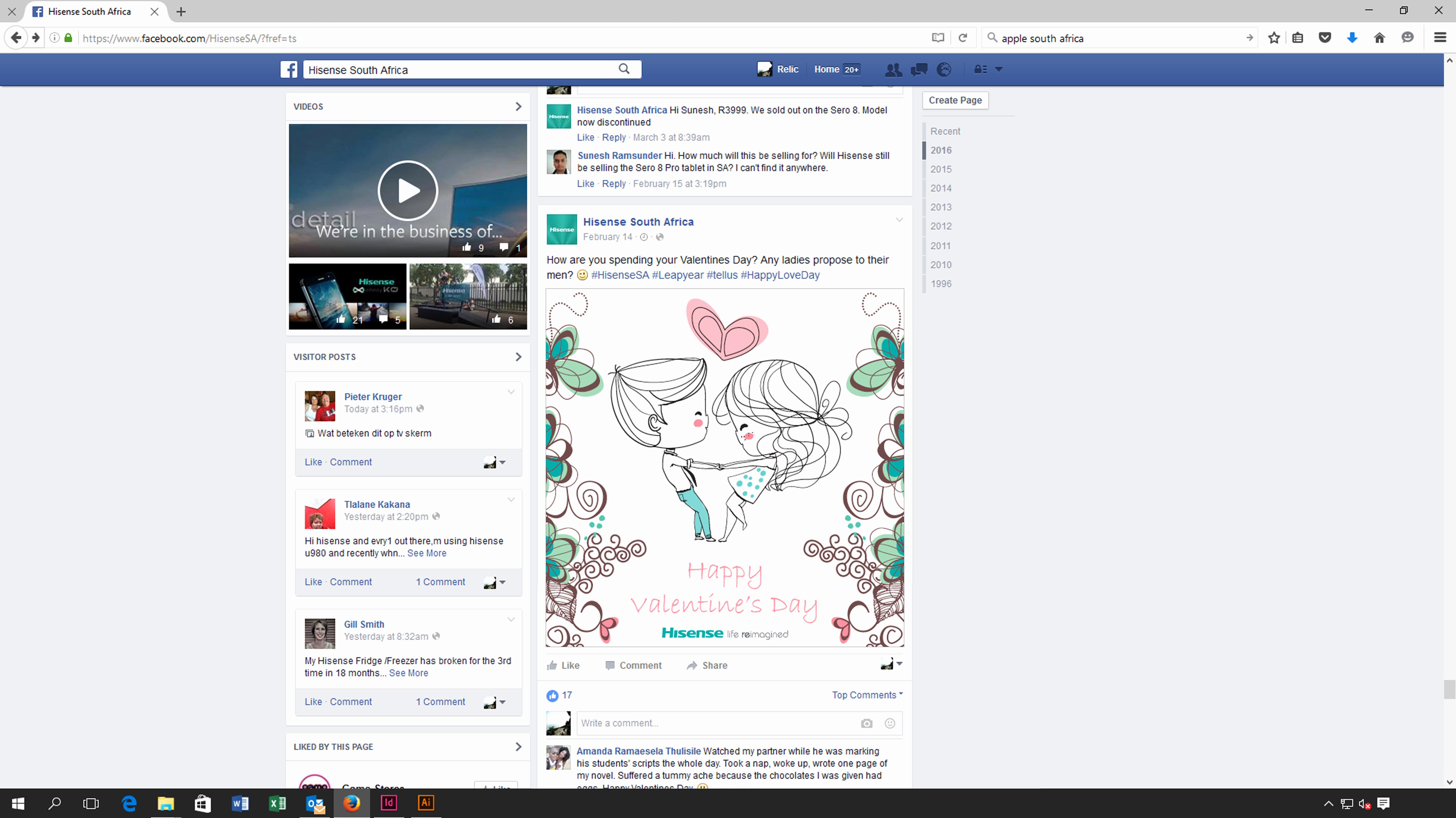Facebook Post Template for Word Fresh Digital Design